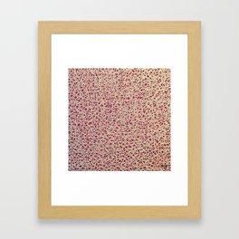 Pink Lace Framed Art Print