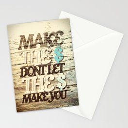 Make the money Stationery Cards