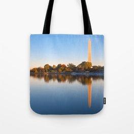 Golden Autumn Hour of Washington DC Tote Bag