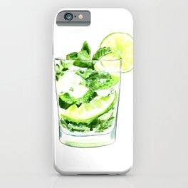 Cocktails. Mojito. Watercolor Painting. iPhone Case