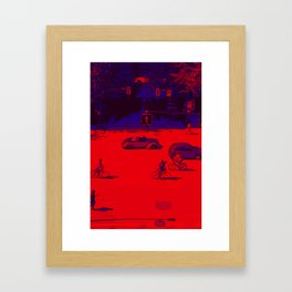 Crossroad traffic Framed Art Print