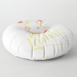 Lama without problems Floor Pillow