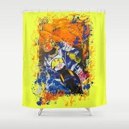 Moto Splash Shower Curtain