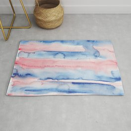 9    190907   Watercolor Abstract Painting Rug