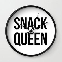 SNACK QUEEN Wall Clock