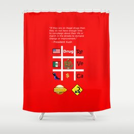 Protesters Shower Curtain