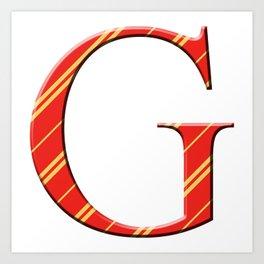 G for Gryffindor Art Print