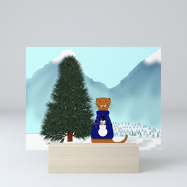 Oliver Finds His Christmas Tree Mini Art Print