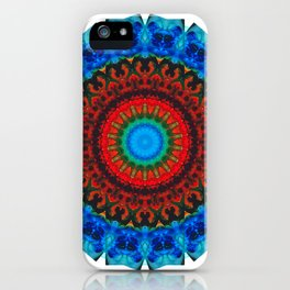 Inner Peace - Kaliedescope Mandala By Sharon Cummings iPhone Case