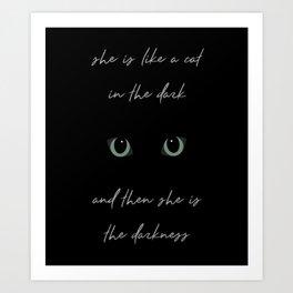 Cat in the Dark Art Print