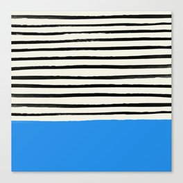 Ocean x Stripes Canvas Print