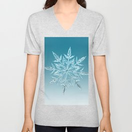 Blue Green Ice Crystal Unisex V-Neck