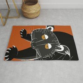Black bear cat Rug