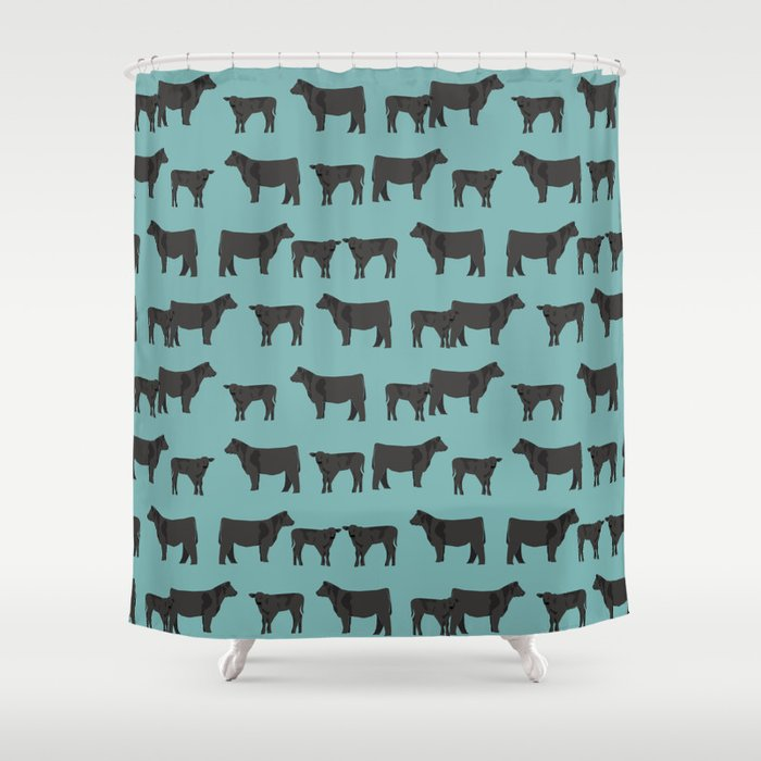 Angus Cattle breed farm gifts must have cow animal Shower Curtain