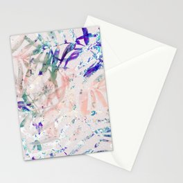 Abstract colorful plant Stationery Cards