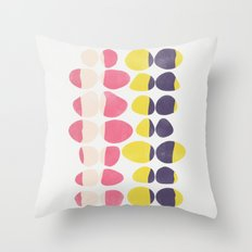 Painted Pebbles 3 Throw Pillow