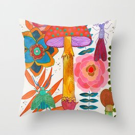 Gathering Story Seeds Throw Pillow