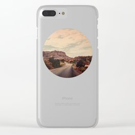 Desert Solitude Clear iPhone Case