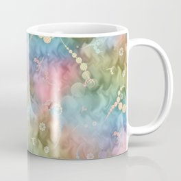 Satin Rainbow Pastel Floral Coffee Mug