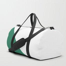Green Triangle Abstract #minimal #design #kirovair #buyart Duffle Bag
