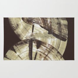 Concentric Log Abstract Rug