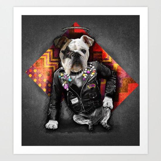 Bad Dog Art Print