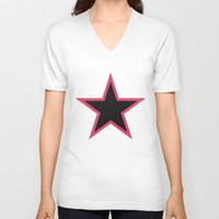 superhero V-neck T-shirts featuring Superhero by Miki Price