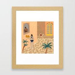 LIDO SWIMWEAR - Caffè della Spiaggia Framed Art Print
