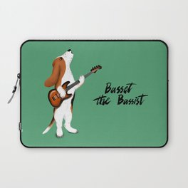 Basset the Bassist (Green) Laptop Sleeve