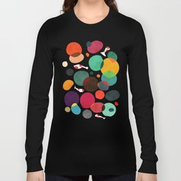 Lotus in koi pond Langarmshirt
