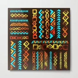 Bold Ethnic pattern n.5 Metal Print