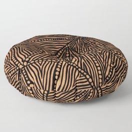 Rustic Triangles Floor Pillow