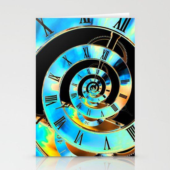 Infinite Time Blue Stationery Cards
