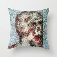 kieren walker Throw Pillows featuring walker by brothermatt