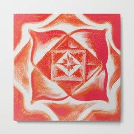 Four directions - Balancing Square  Metal Print