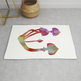 Mushrooms Watercolor Magic Rug