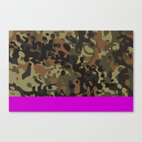 david fleck Canvas Prints featuring Magenta Fleck Tarn Camo by Derek Boman