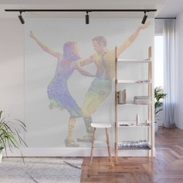 La la Land Typographic Screenplay Print Wall Mural