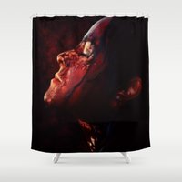 blood Shower Curtains featuring Blood Rain by Kate Dunn