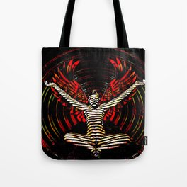 0395s-PDJ Sensual Angel with Red Wings Woman Empowered as Succubus Tote Bag