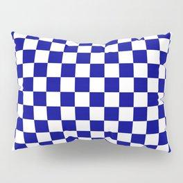 Jumbo Blue and White Australian Racing Flag Checked Checkerboard Pillow Sham