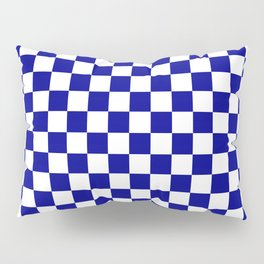 Jumbo Blue and White Australian Racing Flag Checked Checkerboard Pillow Sham