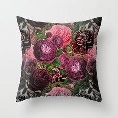 Vintage & Shabby-chic -  floral roses flowers - Flower and Rose Throw Pillow