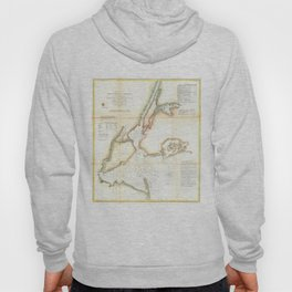 Vintage Map of New York City and NY Harbour (1857) Hoody
