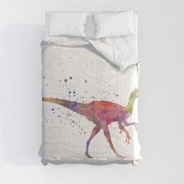 Oviraptor dinosaur in watercolor Comforters