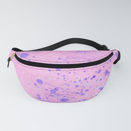 Abstract pastel pink violet watercolor splatters Fanny Pack