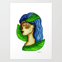 Connected with Gaia Art Print