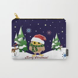 Cute Xmas pattern design with owls and snowmen Carry-All Pouch