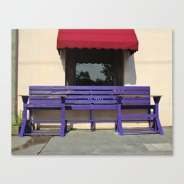 Whimsical Purple Bench Canvas Print
