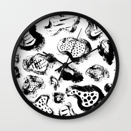 Abstract Acrylic Hand Drawn Wall Clock